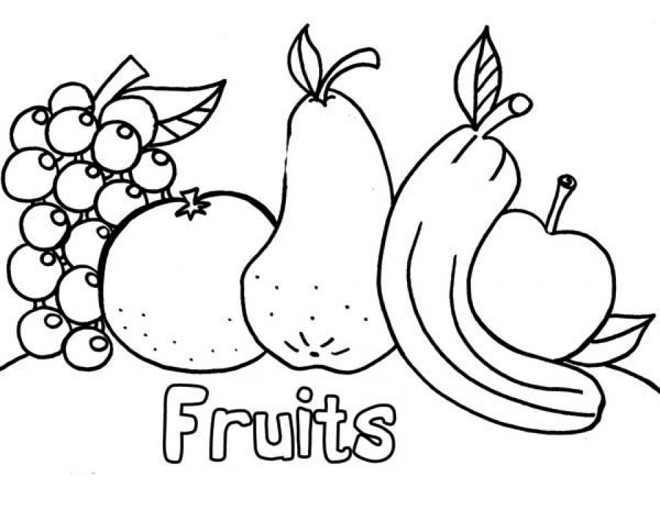 Online Fruit Coloring Pages   61145