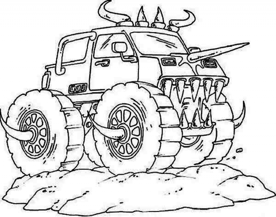 Get This Online Monster Truck Coloring Pages 6976