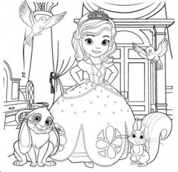 Online Sofia the First Coloring Pages 44945