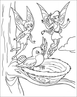 Online Tinkerbell Coloring Pages 40117