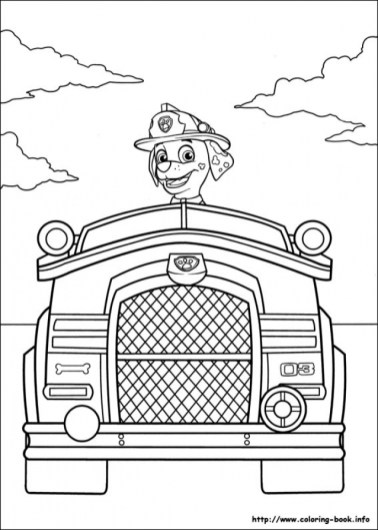 Paw Patrol Coloring Pages for Preschoolers 52786