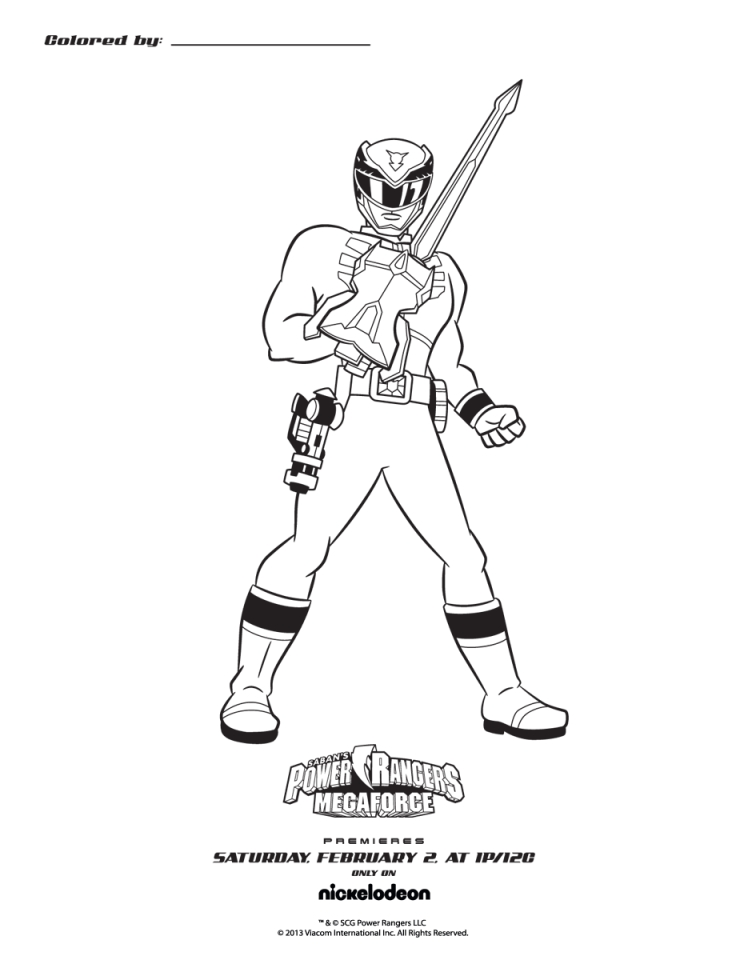 Power Rangers Megaforce Coloring Pages Printable   41685