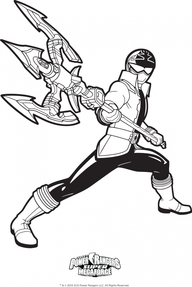 Power Rangers Megaforce Coloring Pages Printable   46104