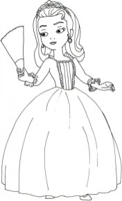 Princess Amber from Sofia the First Coloring Pages 17289