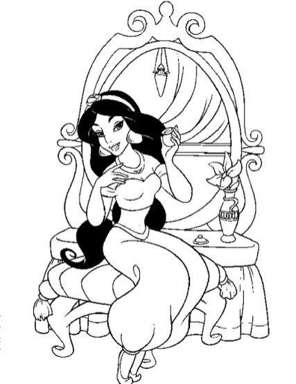 Princess Jasmine Printable Coloring Pages for Girls 61903