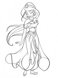 Princess Jasmine Printable Coloring Pages for Girls 73801