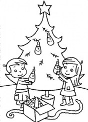 Printable Christmas Tree Coloring Pages for Children 95673