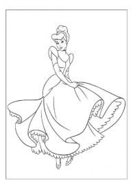 Printable Cinderella Coloring Pages Online 71826