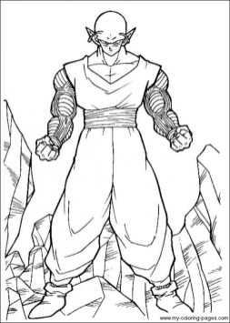 Printable Dragon Ball Z Coloring Pages Online 49159