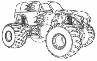 Printable Monster Truck Coloring Pages 59949