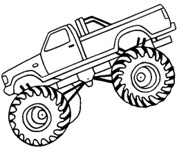 Printable Monster Truck Coloring Pages Online 12904