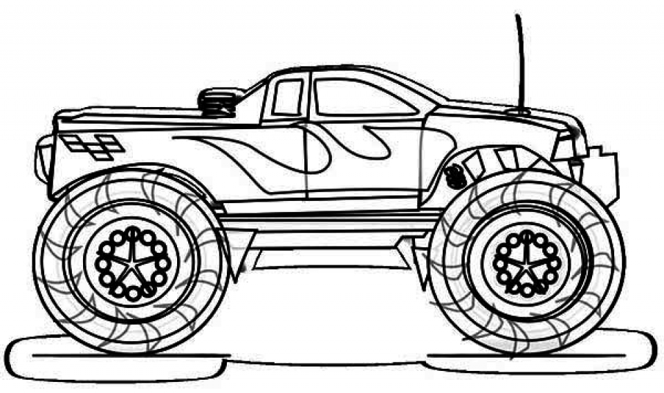 Get This Printable Monster Truck Coloring Pages Online 81922