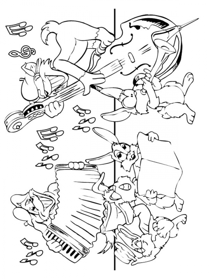 Printable Music Coloring Pages for Kindergarten   27805