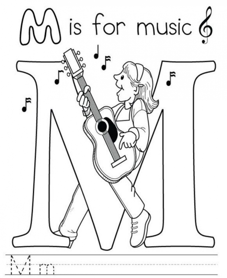 Get This Printable Music Coloring Pages for Kindergarten