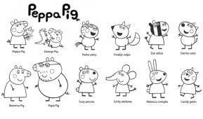 Printable Peppa Pig Coloring Pages Online 86936
