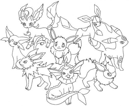 Printable Pokemon Coloring Page 2989