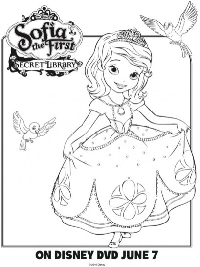 Printable Sofia the First Princess Coloring Pages for Girls 13216