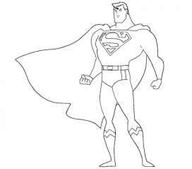 Printable Superman Coloring Pages Online 34670