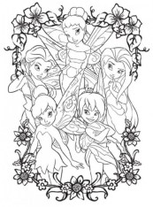 Printable Tinkerbell Coloring Pages Online 82042