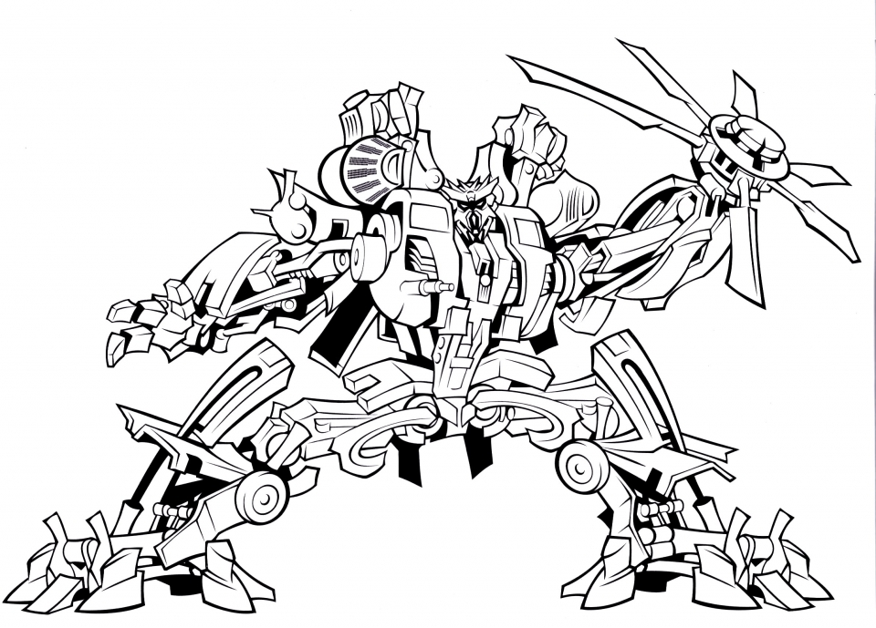 Get This Printable Transformers Robot Coloring Pages For Boys 67891