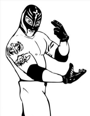 Printable WWE Coloring Pages Online 71397