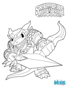 Skylander Coloring Pages Kids Printable 95631