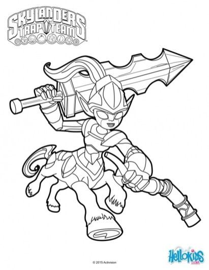 Skylander Coloring Pages Online 06939
