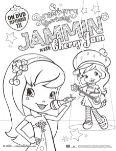 Strawberry Shortcake Printable Coloring Pages 21673