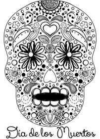 Sugar Skull Coloring Pages Adults Printable 06417