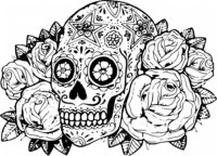 20+ Free Printable Sugar Skull Coloring Pages ...
