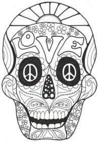 Sugar Skull Coloring Pages Adults Printable 31664