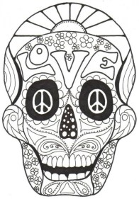 Sugar Skull Coloring Pages Adults Printable 31664