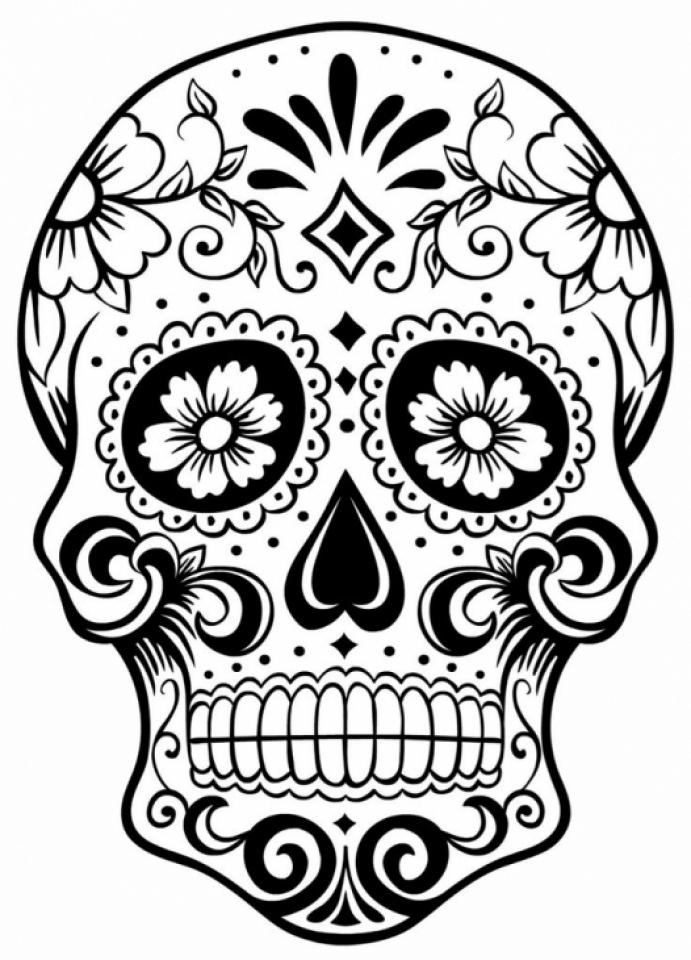 It's just a picture of Printable Sugar Skull Coloring Pages throughout love