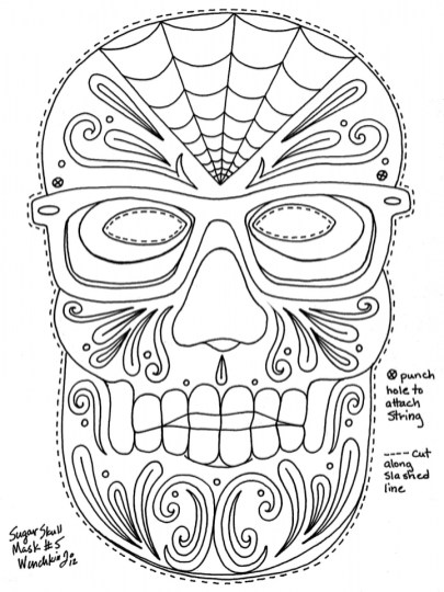 Sugar Skull Coloring Pages Free Printable for Grown Ups 49682