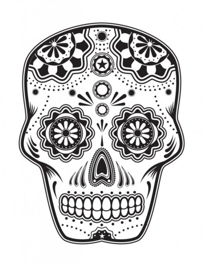 Sugar Skull Coloring Pages Free Printable for Grown Ups 98593