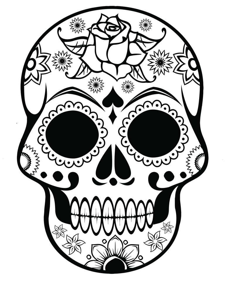 Sugar Skull Coloring Pages to Print for Free   58956