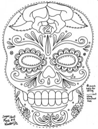 Sugar Skull Coloring Pages to Print for Grown Ups 89433