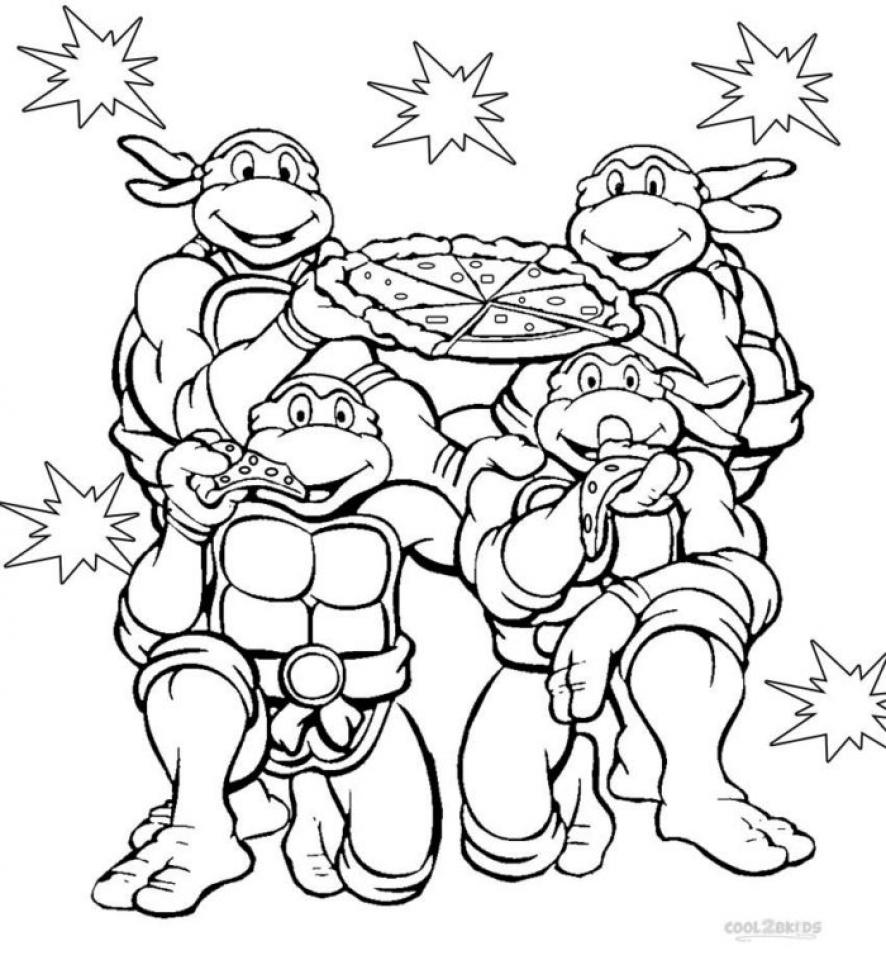 Printable coloring pages tmnt -  Teenage Mutant Ninja Turtles Coloring Pages Free Printable