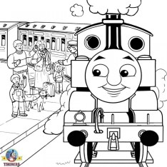 Thomas the Tank Engine Coloring Pages Free Printable 88071
