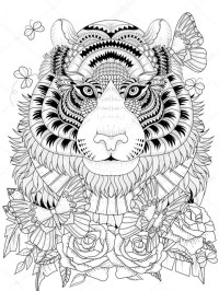 Get This Tiger Coloring Pages Intricate Zentangle Art for ...