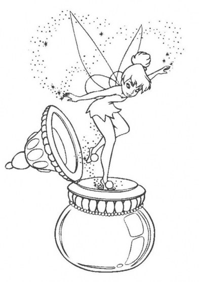 Tinker Bell Coloring Pages Printable for Girls 14285