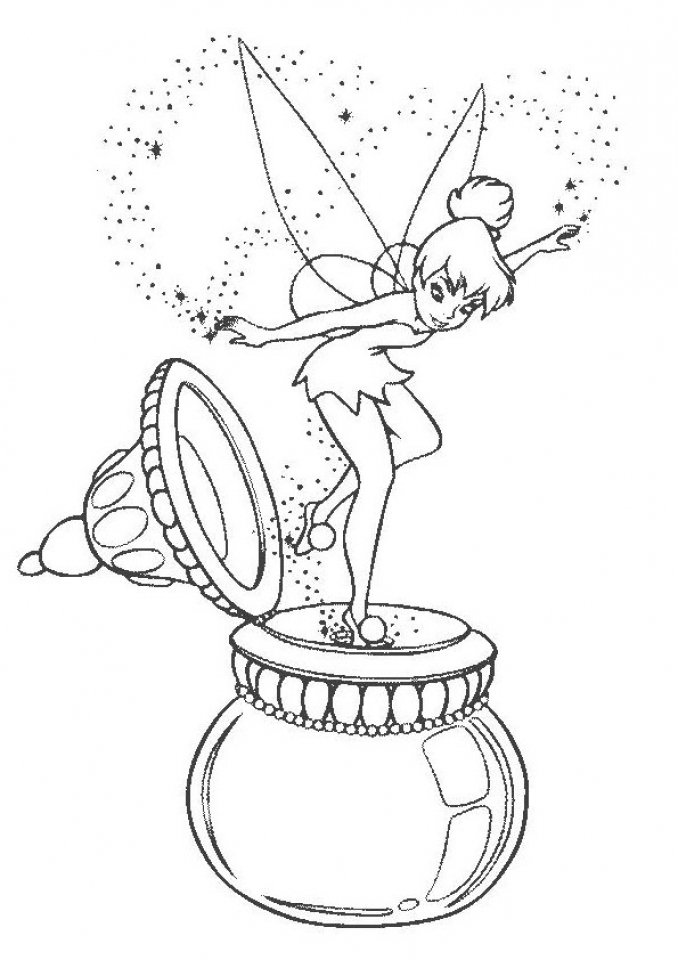 Tinkerbell Coloring Pages Free Printable   60741