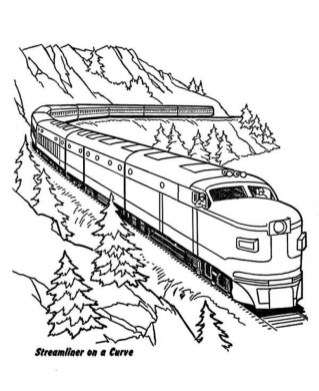 Train Coloring Pages to Print for Free 41792