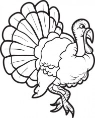 Turkey Coloring Pages Kids Printable 85612