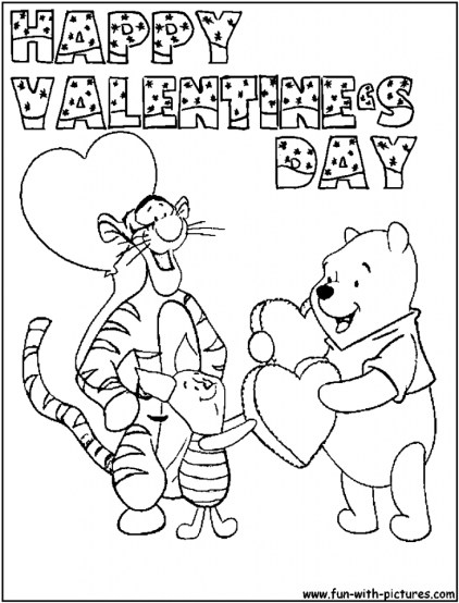 Valentines Coloring Pages Printable for Kids 27549