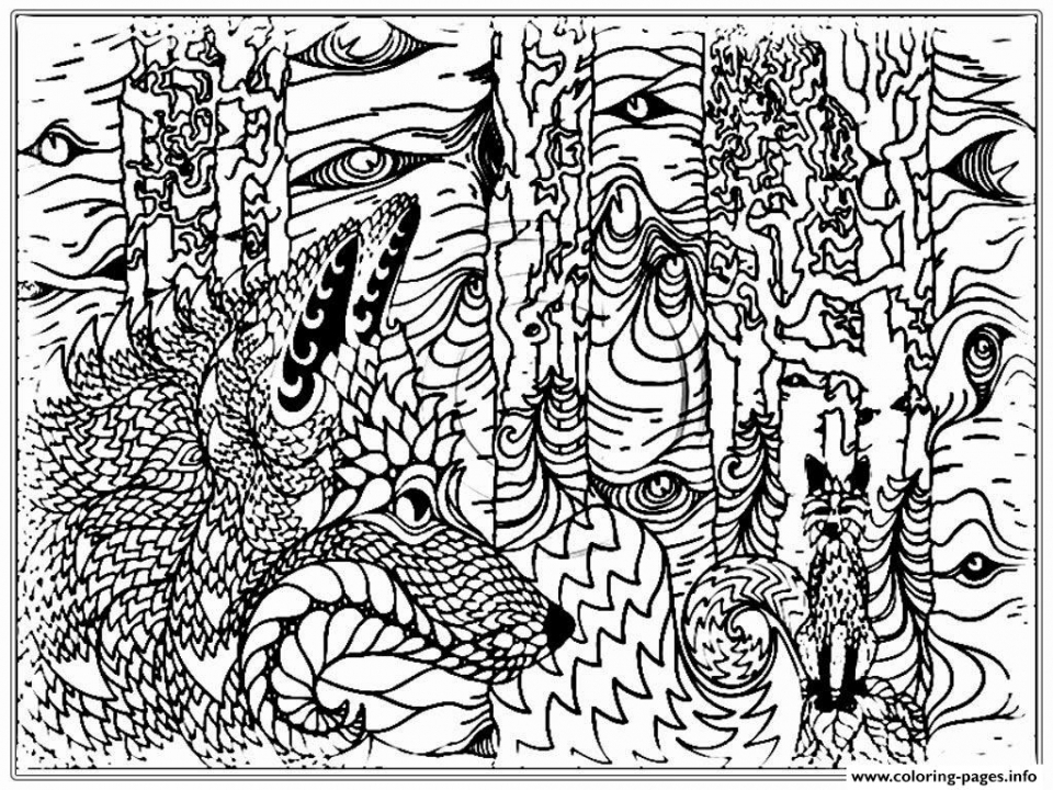Get This Wolf Coloring Pages For Adults 16478