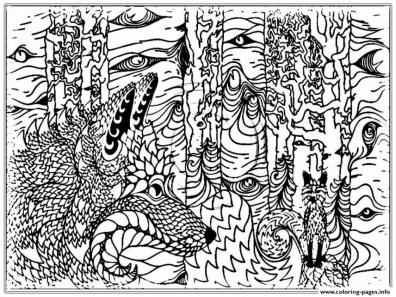 Wolf Coloring Pages for Adults 16478