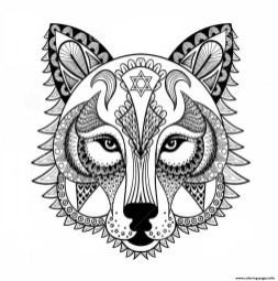 Wolf Coloring Pages for Adults 47582