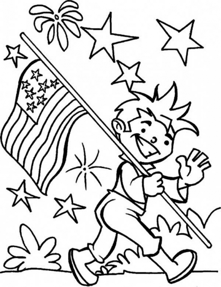 Get This 4th of July Coloring Pages for Kindergarten 841cv