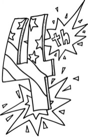 4th of July Coloring Pages for Kindergarten tx8n3